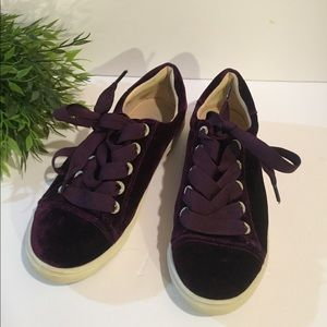 Betsy Johnson Purple Velevet Sneakers Thick Lace